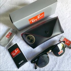Ray Ban Black and Gold trim Glasses
